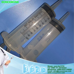 Disposable Large Plastic Irrigation Syringe 120ml with Ring Plunger pictures & photos
