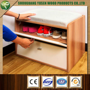 Sit Down Shoe Rack With Leather Ng