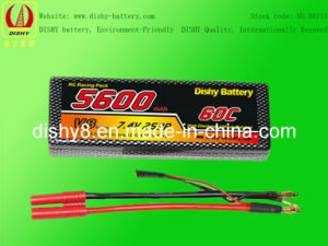 Lipo RC Model Battery 7.4V 5600mAh 60c Remote-Controlled Model Battery (DS-HM5600XP60-2S2P)