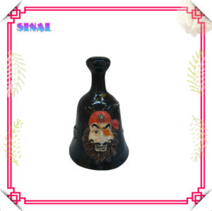 Ceramic Pirate Figure Home Decoration, Black Ceramic Dinner Bell