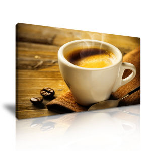 China A Cup Of Coffee Canvas Painting For House Decoration China