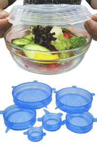 Food Grade Flexible Silicone Super Stretch Suction Food Lid for Pan, Bowl, Cup