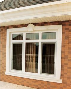 Plastic PVC Profile UPVC Casement Double Glass Swing Window