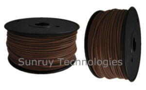 3.00mm Diameter Wood Color PLA 3D Filament for 3D Printer