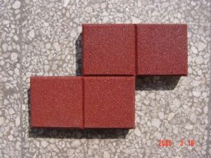 Cushion Rubber Tile for Plaza & Footway pictures & photos