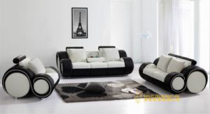 Simple Style Modern Leather Sofa (L053)