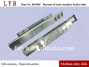 45mm Height Full Extension Kitchen Soft Close Baske Slide with Bayonet of Outer Member (Adjustable) pictures & photos