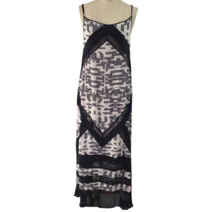 Ladies Fashion Beach Dress in Digital Printed