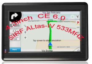 "Car GPS Navigation: 4.3"" Super Slim With Bluetooth, Fm, AV-in, MP3"