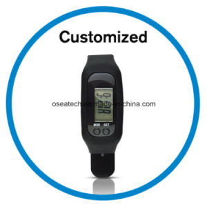 Silicone Pedometer Wristwatches pictures & photos