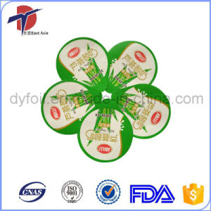 Packaging and Printed Yogurt Cup Aluminium Foil Lid pictures & photos