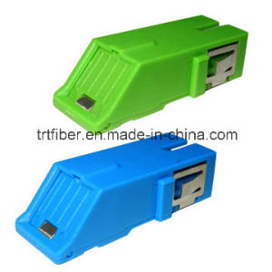 Sc Singlemode Simplex Fiber Optic Adaptor with Shutter pictures & photos