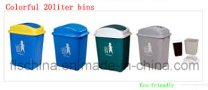 20L Plastic Rubbish Bin (FLS-20L/PP/EN840) pictures & photos