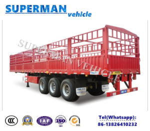 3 Axle BPW Axle Cargo Transport Stake Semi Truck Trailer pictures & photos