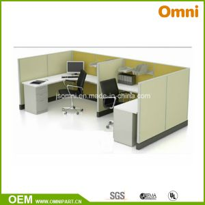 Double Office Partition with Glass Option (OMNI-AO2-08) pictures & photos