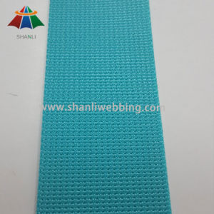 38mm Water Green Grooved Nylon Webbing