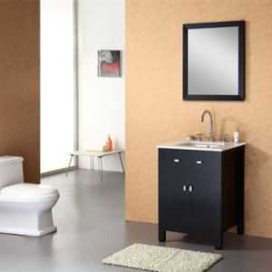 24 Inch Single Sink Floor Standing Solid Wood Bathroom Cabinet