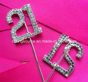Rhinestone Numbers 1# to 100# on Pick Wedding Cake Topper pictures & photos
