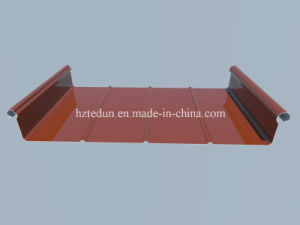 1.0mm Thickness Standing Seam with Wood Grain Paint pictures & photos
