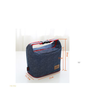 Jeans Picnic Cooler Bag with Buckle Handle