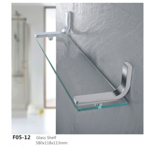 Stainless Steel Bathroom Accessories Wall Mounted Glass Shelf F05 12