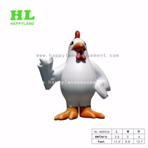 Customized Cute Giant Cock Inflatable Cartoon Character For Outdoor Commercial Advertising Acitivities