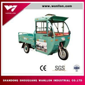 Hybrid Electric / Gasoline Cargo Tricycle with Closed Body pictures & photos