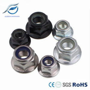Zinc Plated Hex Flange Nylon Insert Lock Nut