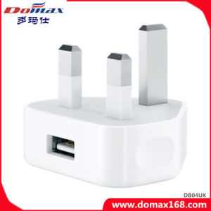 Mobile Phone UK Plug USB Adapter iPhone Travel Charger pictures & photos