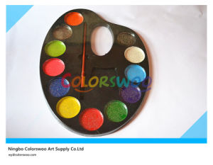 12*4.0cm Glitter Water Color Cake with Brush for Painting and Drawing pictures & photos
