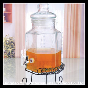 6L Liquid Storage Glass Tank with Glass Lid pictures & photos