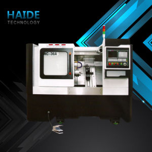 CNC Lathe Machine with Slant Bed for Metal Part Processing