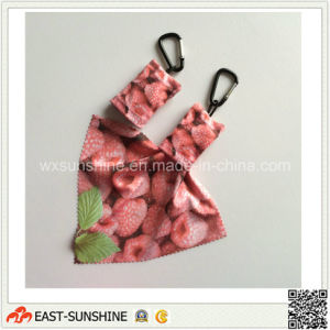 Key-Chain Printing Cleaning Cloth (DH-MC0632) pictures & photos