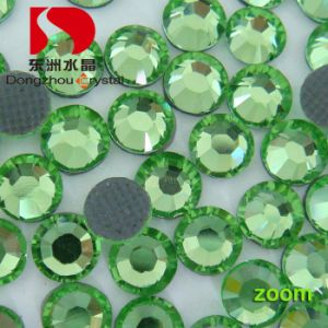 Chinese Peridot DMC Back Glue Hotfix Rhinestone for Wholesale (DZ-01) pictures & photos