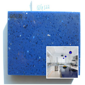 Polished Blue Artificial Quartz Stone for Countertop/Table Top/Bar Top