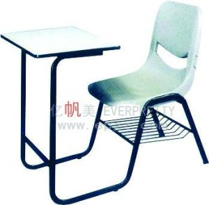 Wholesale Antique School Furniture Student Fixed Single Desk & Chair pictures & photos