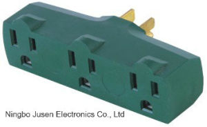 Green Flat Pin Outlet Plug pictures & photos