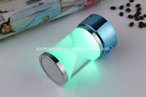LED Light Mini Wireless Speaker with Handsfree, FM/TF/Aux