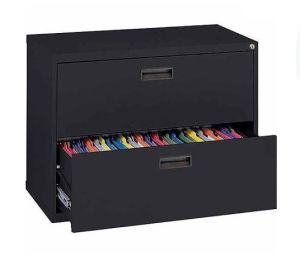 Black Steel Lateral Filing Cabinets with 2 Drawer pictures & photos