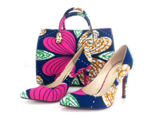 2016 African Printed Fabrics Bags and Matching Shoes (HS04)