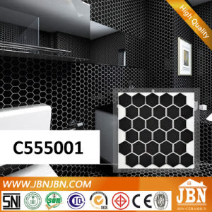 Polygon Black Bathroom Wall Porcelain Mosaic (C555001) pictures & photos