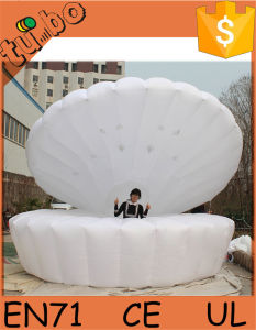 Giant LED Inflatable Stage Shell Inflatable Seashell with LED Light for Party/ Stage/ Wedding Decoration