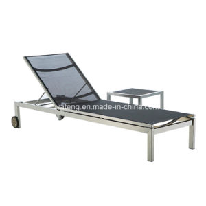 High Quality Lightweight Folding Outdoor Slings Lounge Chair with Wheel (YTF750) pictures & photos
