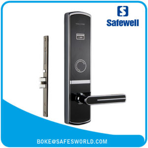 Elegant Black Safewell RF57 Smart Card Hotel Door Lock with Encoder and Software pictures & photos