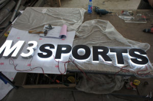 Custom Illuminated Acrylic LED Backlit Halolit Reverse Black LED Illuminated Letters Sign pictures & photos