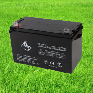 12V 100ah Rechargeable Lead Acid Mf VRLA Battery for Solar