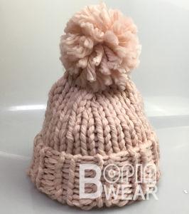 abe6dba14e5ff High Quality Winter Handmade Beanie Hats Custom Made Women Pompom Iceland  Yarn Beanie
