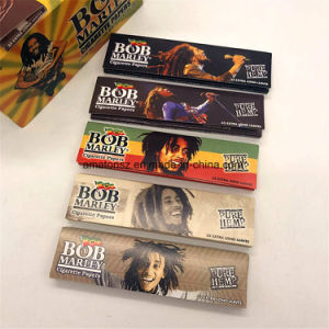china 110mm bob marley hemp cigarette weed tobacco rolling papers