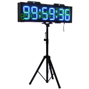 "8"" 6 Digits Double Sided Blue Color Running Events Clock with Tripod"