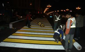 Waterproof Temporary Reflective Thermoplastic Pavement Road Marking Tape pictures & photos